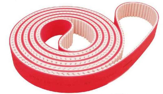The company successfully developed high temperature resistant and wear red rubber synchronous belt